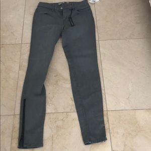 J Brand Gray Jeans with ankle zippers- Size 26